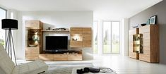 WOHNWAND Wildeiche massiv Eichefarben online kaufen ➤ XXXLutz Modern, Flat Screen, Furniture, Home Decor, Types Of Wood, Drawers, Sitting Rooms, Homes, House