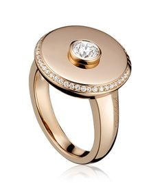 TABBAH -- Beret Icon Ultimate Ring 18k Rose Gold set with 36 diamonds (Ref. BA 3728)