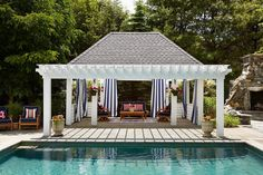 Ultimate Deck And Patio Area Retreat For Easy Living – Outdoor Patio Decor Wooden Pavilion, Backyard Pavilion, Backyard Pergola, Pergola Shade, Pergola Kits, Pergola Ideas, Pergola Roof, Metal Pergola, Patio Ideas