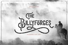 New free font 'Billyforges Demo' by Burntilldead · Free for personal use · #freefont #font