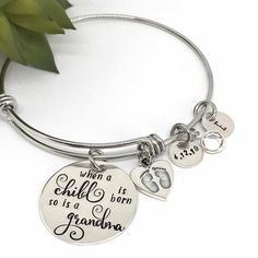 New Grandma Gift Ideas , Gifts for Grandmas, Initial Birthstone Bracelet, Personalized Ideas for , Gifts for Mom, Best Gifts Gifts For New Grandma, Grandmother Gifts, Gifts For Your Mom, Mother Day Gifts, Mom Gifts, Cute Gifts, Best Gifts, Pregnancy Announcement Gifts, Blue Baby Blanket