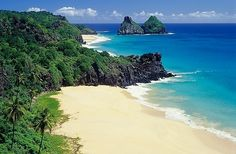 Fernando De Noronha is an archipelago of 21 islands and islets in the Atlantic Ocean, around 220 miles offshore from the Brazilian coast Brazil Beaches, Tulum Beach, Mexico Resorts, Dubai City, Rio Grande Do Sul, Beaches In The World, Beautiful Places To Travel, Africa Travel, Travel And Leisure