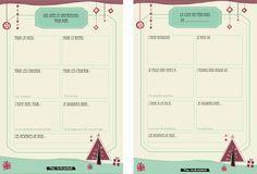 Organisateur de Noël et liste au Père Noël à imprimer.