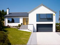 house renovation,renovating old homes,repairing house,home remodeling on a budget Renovation Facade, Bungalow Renovation, Bungalow Exterior, Bungalow Homes, Home Exterior Makeover, Exterior Remodel, House Cladding, Facade House, Rendered Houses