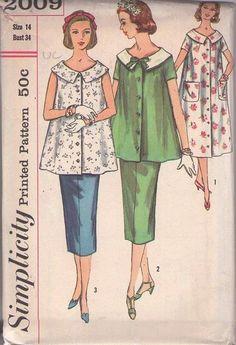 ff567bc8175aa MOMSPatterns Vintage Sewing Patterns - Simplicity 2009 Vintage 50's Sewing  Pattern PRETTY Lucy Era Maternity Separates