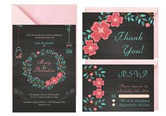 Mason Jar Wedding Invitation Blackboard by LoveArtsStationery