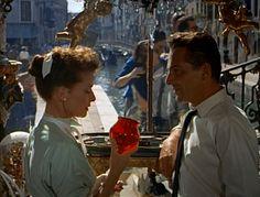 Katharine Hepburn & Rossano Brazzi, SUMMERTIME - filmed on location in Venice, italy