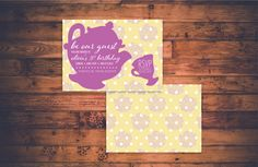 Be our guest! Looking for a #birthday idea? Have a tea party with your friends!   http://etsy.me/2AYEAe1 #papergoods #yellow #disneybirthday #invitation #invite #party #bday #belle #teaparty #tea #birthdayinvitations #shopsmall #MGDesigns #princess #mrspotts #disney