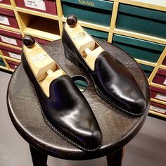 Ascot Shoes — Our first pair of Black Plain Pump loafers, fully...