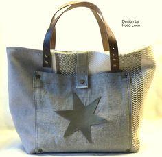 Handtasche - Leinen Tasche ● Unikat Poco Loco - ein Designerstück von PocoLoco bei DaWanda