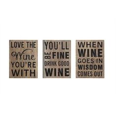 Creative Co-Op Wine Wall Decor