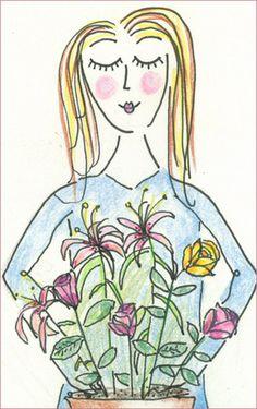 A Florista, ilustração