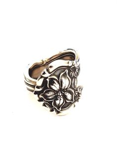 Antique Silver Spoon Ring  Circa 1910 by CypressStudio on Etsy, $30.00