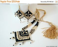 SALE-25% OFF Necklace Set Jute Handmade by StoreUtsavFashion