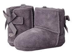 UGG Kids Jesse Grosgrain Bow (Infant/Toddler) Shadow - Zappos.com Free Shipping BOTH Ways