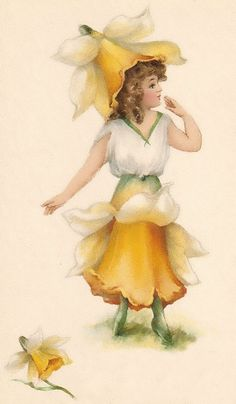 vintage children posters | ... children dressed with fairy flowers from the vintage children prints