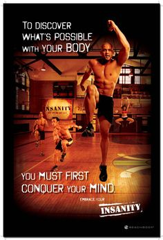 Shaun T a fitness trainer made famous through the Insanity Workout program. He also created Hip Hop Abs and the Insanity Asylum workout. To learn more about Shaun T check out this page. Zumba, Fitness Quotes, Fitness Tips, Health Fitness, Extreme Fitness, Fitness Gear, Fitness Workouts, Weight Lifting, Weight Loss