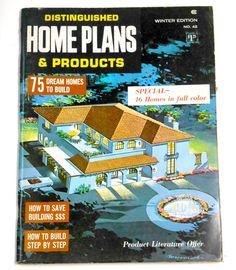Vintage 1967 Distinguished Home Plans 75 illustrated floor #Vintage 1967 Distinguished #HomePlans 75 #illustrated #floorplans #design #book #guide #mid #century #modern