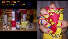 uñas con bandera España