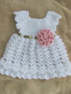 Bebé Crochet vestido viniendo a casa infantil a orden