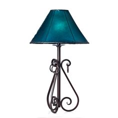S Curves & Rings Iron Table Lamp