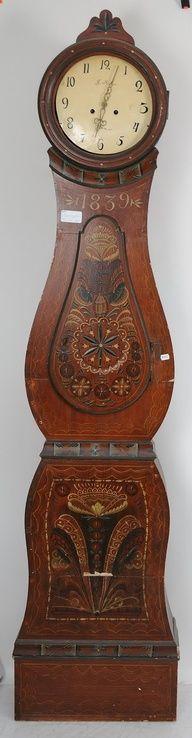 Rosemaling Clock | Norwegian Rosemaling
