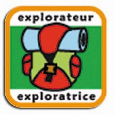 'Explorer' badge for Guides in the Scouts and Guides of France (SGdF)  #hiking #backpacking #travel