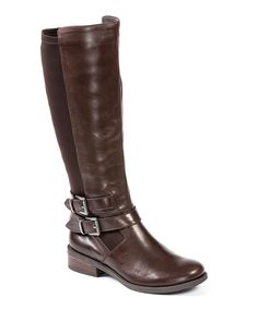 Loving this Me Too Bison Brown Denver Stretch-Back Leather Boot on #zulily! #zulilyfinds