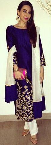 Elegant Karishma Kapoor in Shruti Sheth India Fashion, Ethnic Fashion, Asian Fashion, Indian Look, Indian Ethnic Wear, Pakistani Outfits, Indian Outfits, Indian Couture, Indian Attire