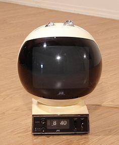 jvc videosphere space age helmet ball vintage tv