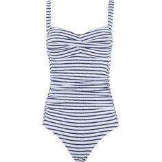 """Nip Tuck Swim"" Blue Striped Balconette Swimsuit - TK Maxx"