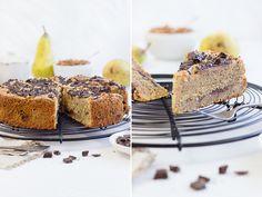 sehr saftiger Birnen Schokoladen-Mandel kuchen