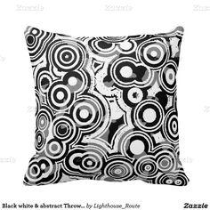 Black white & abstract Throw pillow