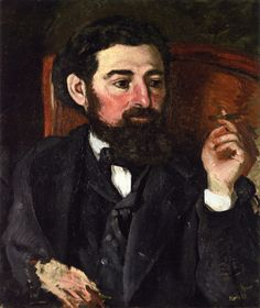 Man with a Cigar (also known as Portrait of Zacharie Astruc), Jean Frederic Bazille - 1869