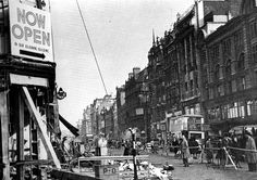Oxford Street,  1940. What's left of  John Lewis on the left.