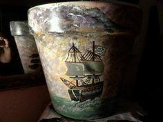 ship flower pot