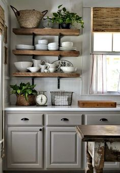 32 Beautiful Small Kitchen Design Ideas And Decor. If you are looking for Small Kitchen Design Ideas And Decor, You come to the right place. Below are the Small Kitchen Design Ideas And Decor. Farmhouse Kitchen Cabinets, Kitchen Dining, Kitchen Grey, Kitchen Rustic, Kitchen Island, Kitchen Colors, Farmhouse Decor, Kitchen Country, Kitchen Paint