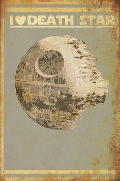 I Heart Death Star Art Print