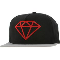 eb74aa87493ad1 Diamond Supply Co Rock Snapback Cap (black / grey / red) Caps FA1RSBBGR