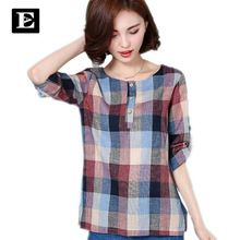 FREE Shipping Worldwide|    Latest arriving EveingAsky Brand New 2017 Summer Style Plaid Print long Sleeve Shirts Women Plus Size Cotton Linen Blouses Casual Tops 1713# now on discount sales $US $16.33 with free delivery  you can find this item together with even more at our favorite website      Grab it now on this site >> https://tshirtandjeans.store/products/eveingasky-brand-new-2017-summer-style-plaid-print-long-sleeve-shirts-women-plus-size-cotton-linen-blouses-casual-tops-1713…