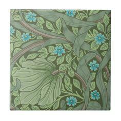 Wallpaper Pattern Sample with Forget-Me-Nots Ceramic Tile - sample design diy personalize idea