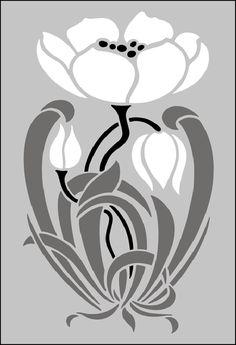 Art Nouveau Design Motifs | ... Art Nouveau stencils online. Page 2 of our Art Nouveau motif stencil