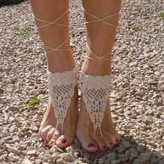 Encontrar Más Pulseras de Tobillo Información acerca de Crochet las sandalias descalzas, Tan sandalias descalzas, piscina de la playa, zapatos desnudos, pie tobilleras joyería, alta calidad los zapatos se deslizan, China zapatos de beijing Proveedores, barato joyería de la lluvia de Country of Origin en Aliexpress.com