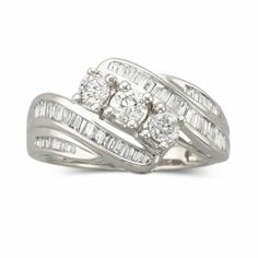 Love Lives Forever™  1 CT. T.W. 3-Stone Diamond Ring 10K Gold  found at @JCPenney