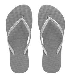 Havaianas Slim Crystal in Grey/ Silver $39.95