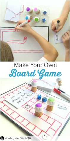Board games can provide lots of creative playtime fun, but they can also be expensive. So why not make your own board game? Craft Activities For Kids, Crafts For Teens, Diy For Kids, Kids Crafts, Rainforest Activities, Class Activities, Diy Toys Doll, Make Your Own Game, Rainy Day Fun