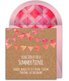 free summer cookout invitations summer parties pinterest
