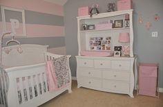 Peyton's Pink and Gray Nursery