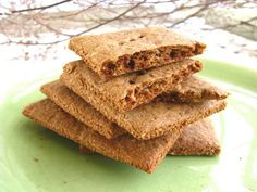 #grainfree #vegan Graham Crackers!