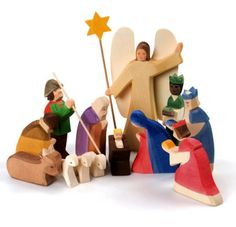 ostheimer nativity set....a beautiful heirloom, you can buy a new piece each year....available at Honeybee.
